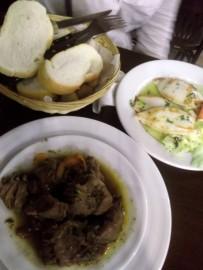 Pork cheek stew and squid
