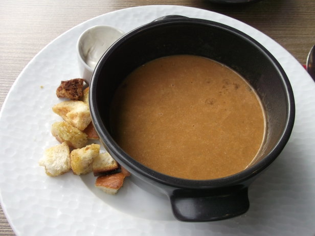 Fish soup with aioli and croutons (Le Bistro restaurant)