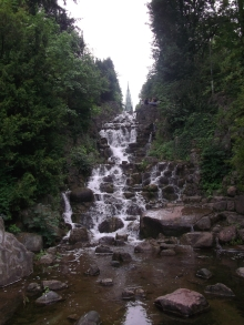 Waterfall in Viktoria park