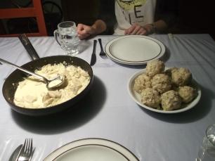 Semmelknödel - bread dumplings.